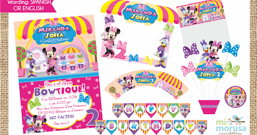 KIT IMPRIMIBLE DE MINNIE MOUSE BOWTIQUE!