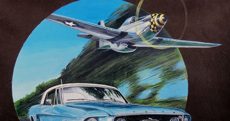flyingtagger peinture sur cuir blouson personnalise ford mustang vs p 51 mustang. Black Bedroom Furniture Sets. Home Design Ideas