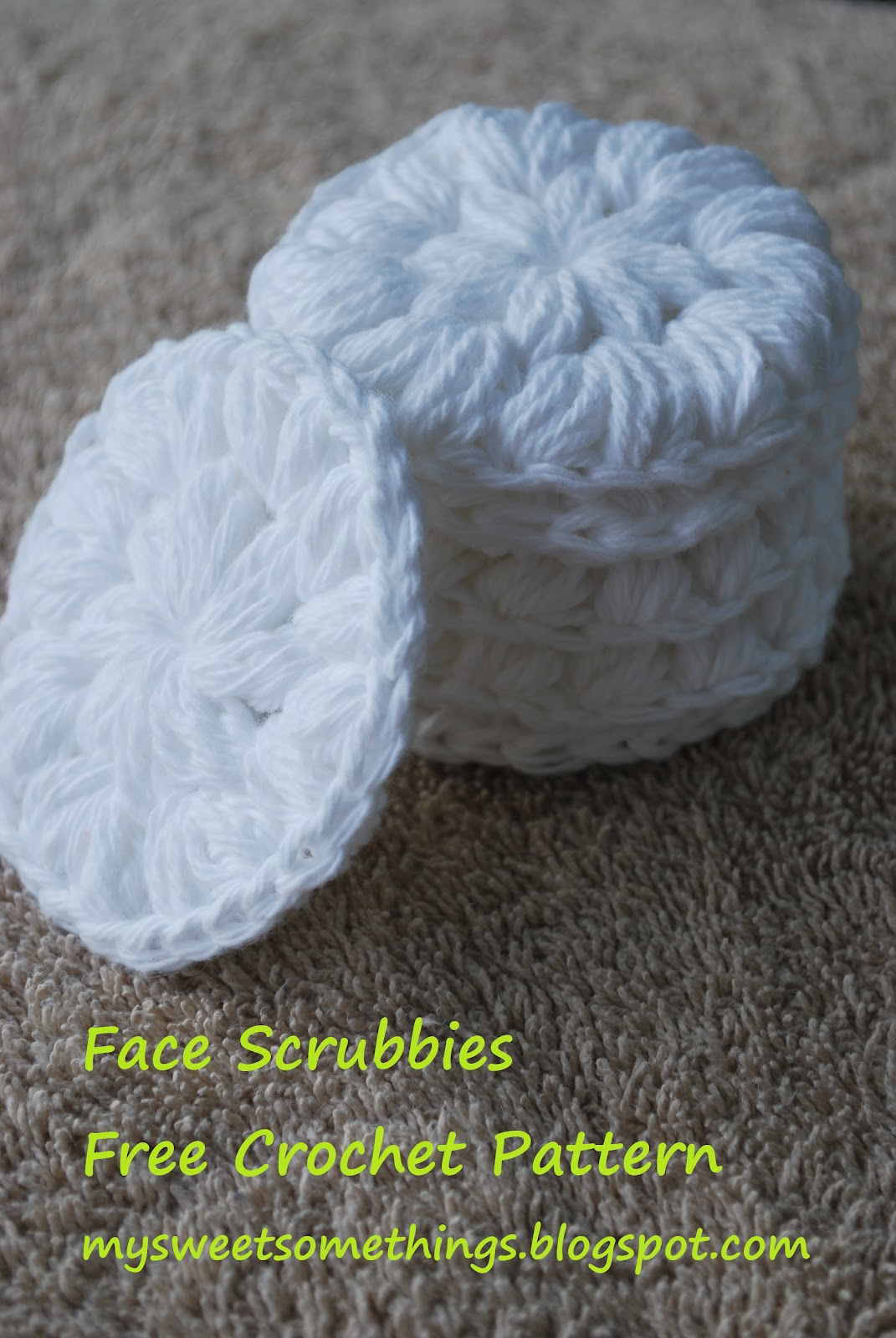 knitted facial scrubber pattern