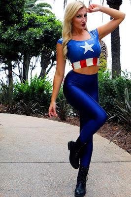 Cosplayer Seksi Captain Amerika dada super besar seksi bisyar indonesia