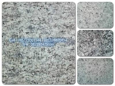 Cat dinding motif granit