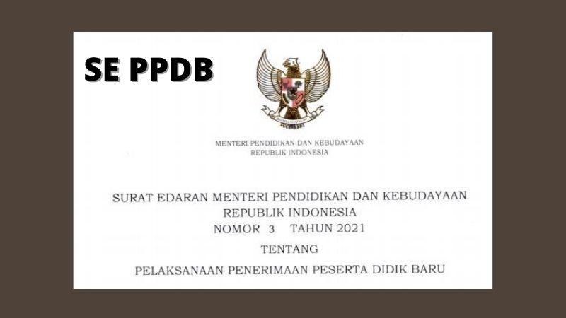 Poin Penting dalam SE Mendikbud Nomor 3 Tahun 2021