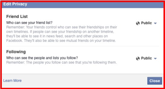How to make friends on facebook private