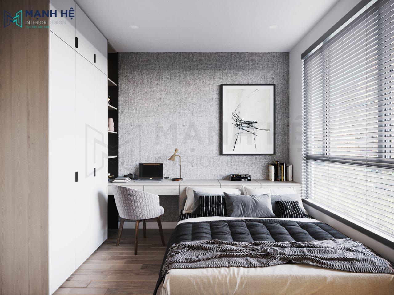 Mẫu Thiết kế phòng ngủ nhỏ đẹp 5m2