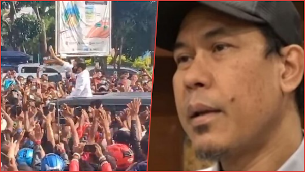 Munarman Soroti Jokowi Bagi-bagi Bingkisan di Kerumunan: Unsur Penghasutan, Bisa Kena Pasal