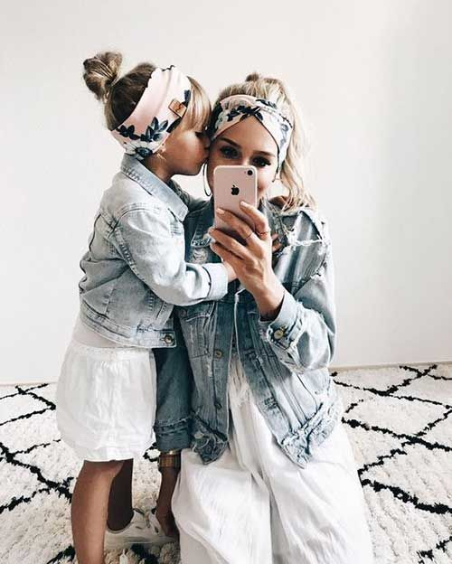mama e hija denim outfits