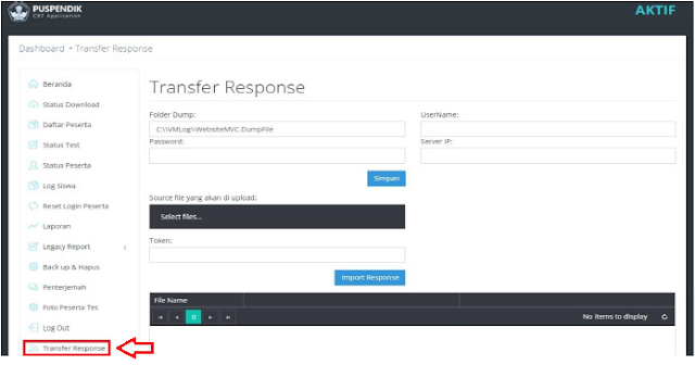 Update Cara Konfigurasi Transfer Response UNBK  Terbaru