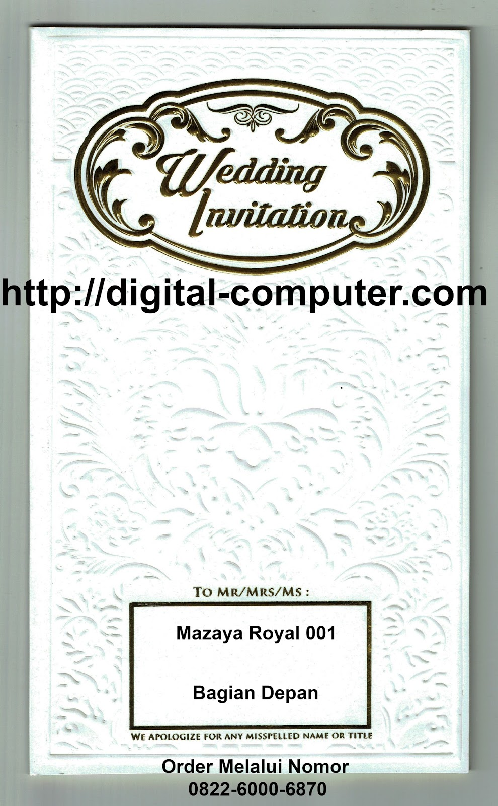 undangan hardcover Mz-Royal 001