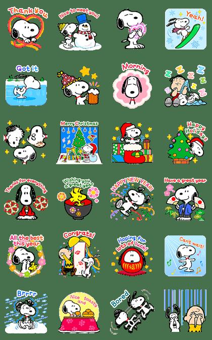 Wonderful Winter Snoopy Pop-Ups 2
