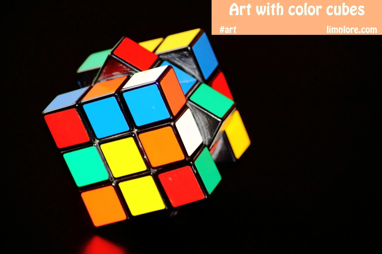 Art with color cubes 3x3
