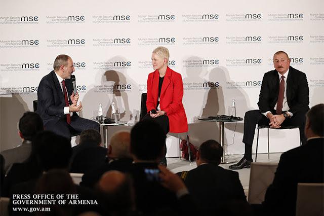 Líderes armenios y azeríes discuten por Karabaj en Munich