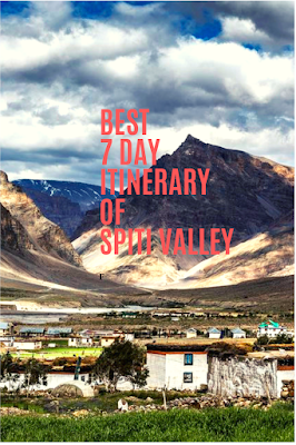 Spiti Valley tour in 7 days