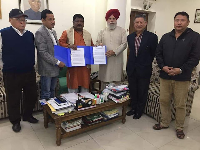 GJM Bimal supporter met Tribal Minister Joel Oram for 11 gorkha community