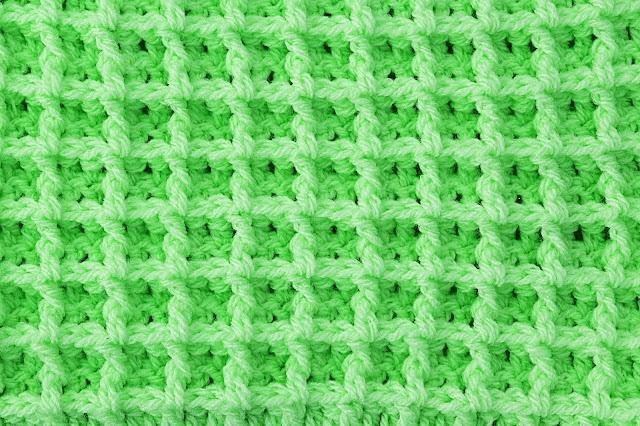 2 - Crochet Imagen Punto gofre o waffle a crochet y ganchillo por Majovel Crochet