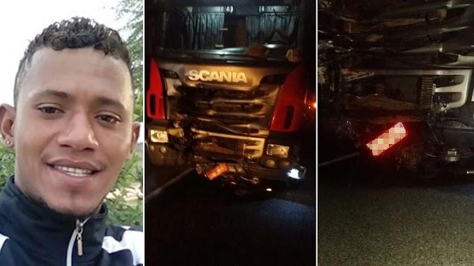 Jovem morre em colisão entre moto e carreta no município de Capim Grosso