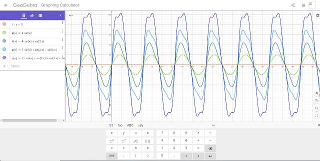 Σ( n * sin x + sin( x * n ) ) from n = 0 to ∞