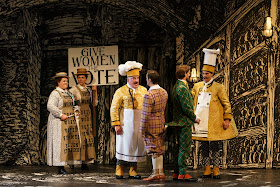 Mozart: The Magic Flute - Martin Snell, David Portillo, Björn Bürger, Thomas Atkins- Glyndebourne (Photo Glyndebourne Productions Ltd. / Bill Cooper)