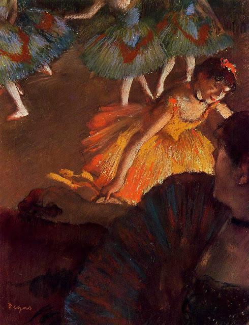 Эдгар Дега - В театре (1885)