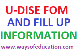 U-DISE PLUS FORM AND FILL UP INFORMATION