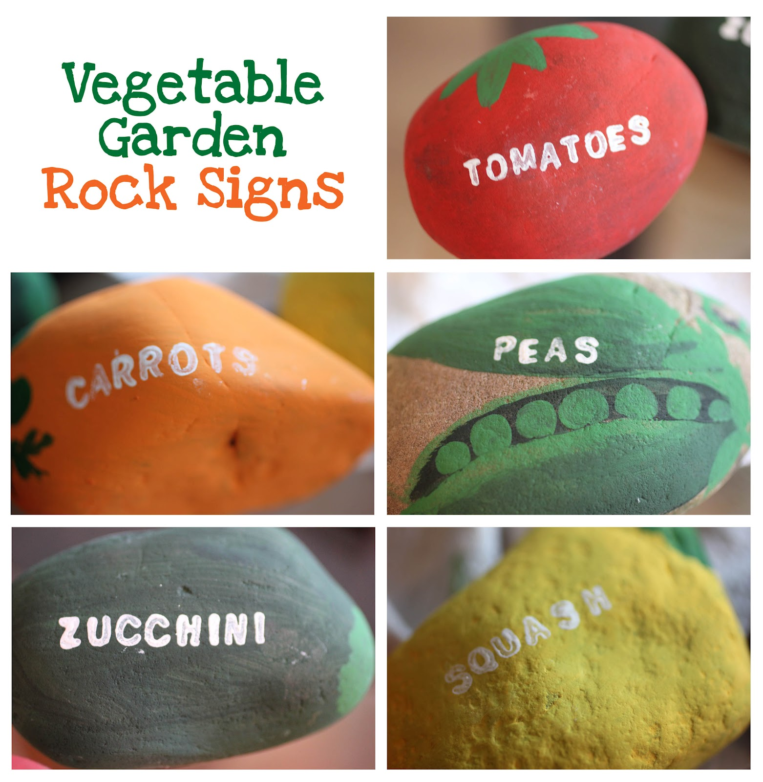 Vegetable Garden Rock Signs Repeat Crafter Me