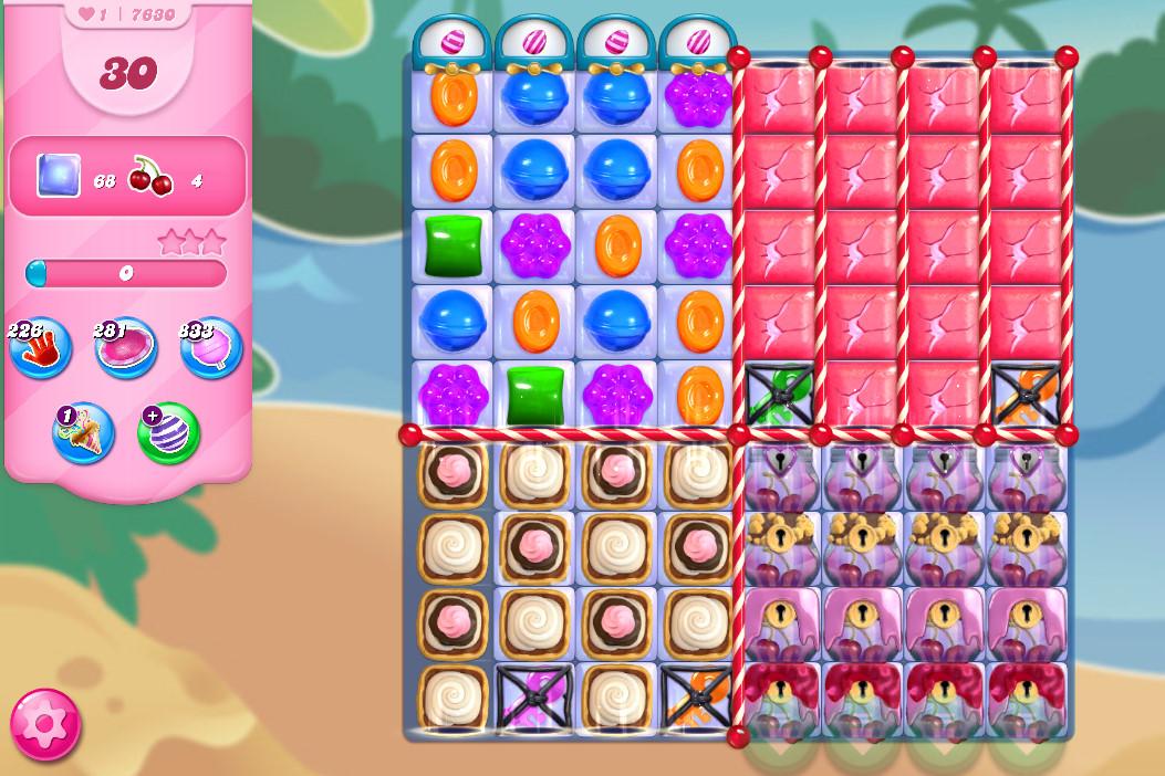 Candy Crush Saga level 7630