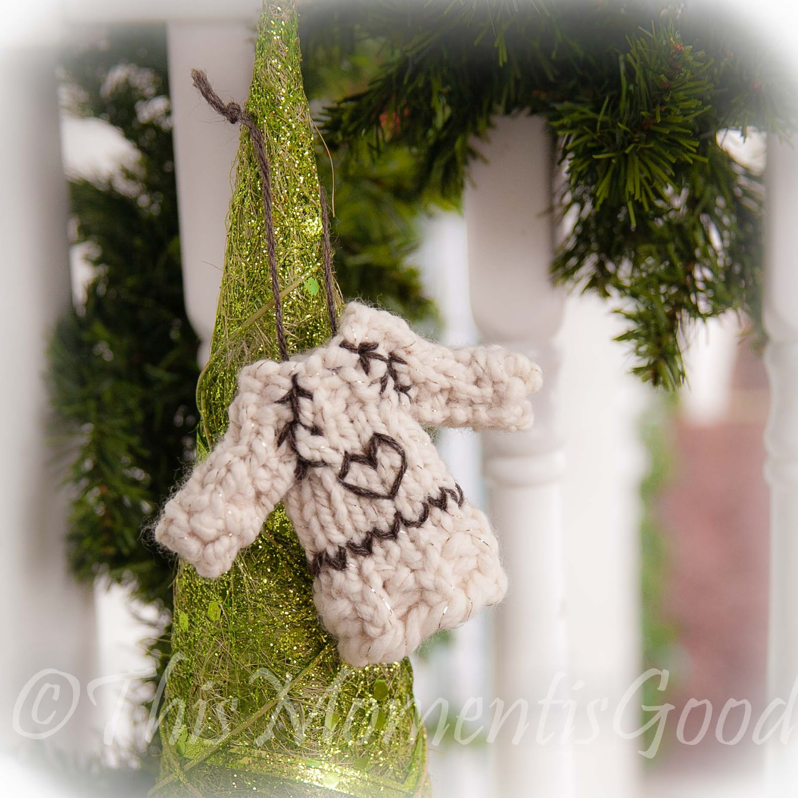 LOOM KNIT SWEATER ORNAMENT PATTERN! | Loom Knitting by This Moment ...