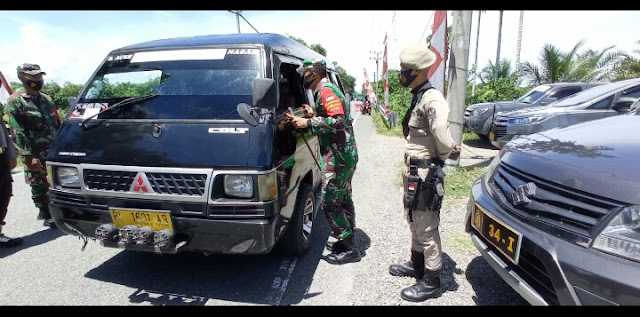 Tinjau Pos Penyekatan Di Perbatasan, Dandim Aceh Barat Tegaskan Berlakukan Balik Arah