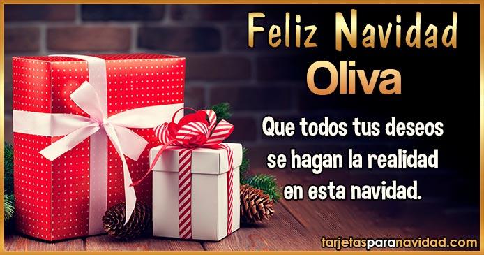 Feliz Navidad Oliva