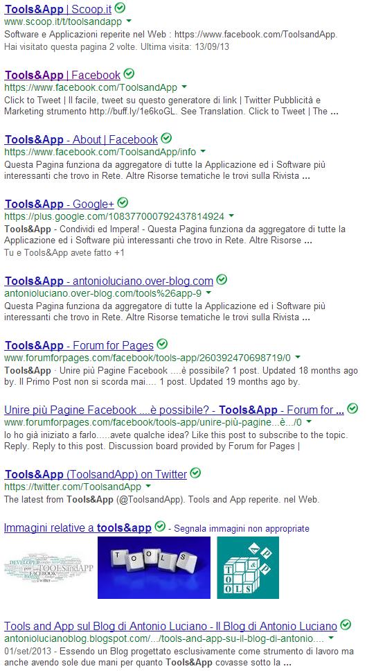 indicizzazione toolsandapp google SERP