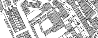 Gooden Lane Mills, OS map, 1927.