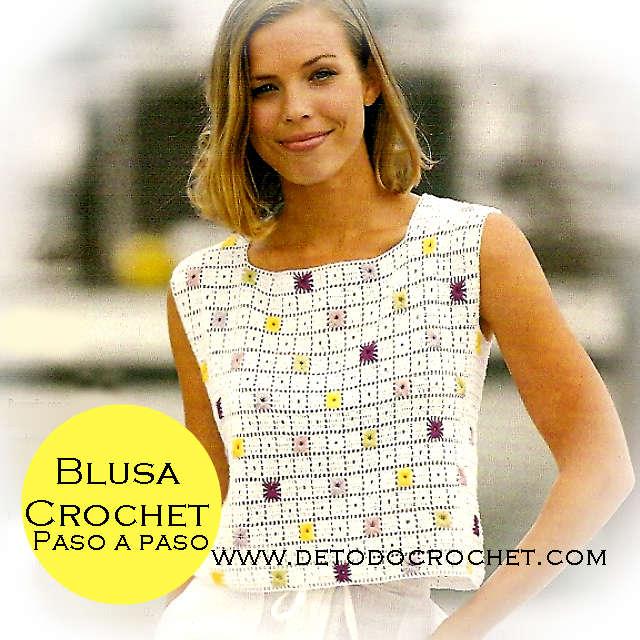 Como tejer blusa de mujer sin mangas a crochet tutorial
