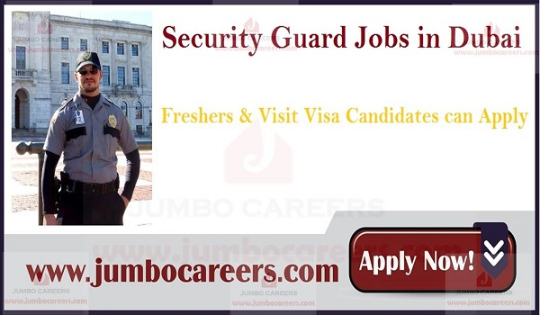 Latest security guard jobs with salary, Urgent UAE job vacancies,
