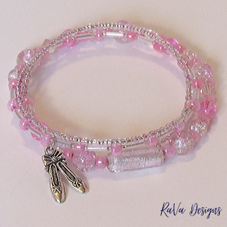 handmade beaded memory wire bracelets ballet shoes charms