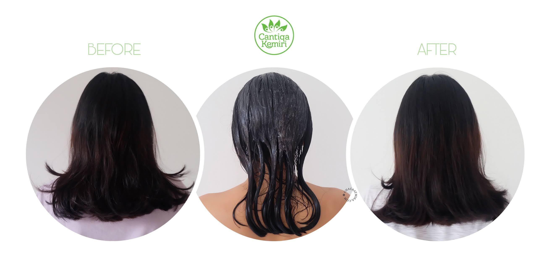 [Review] Cantiqa Kemiri Hair Mask Candlenut, Perawatan Untuk Rambut Rontok
