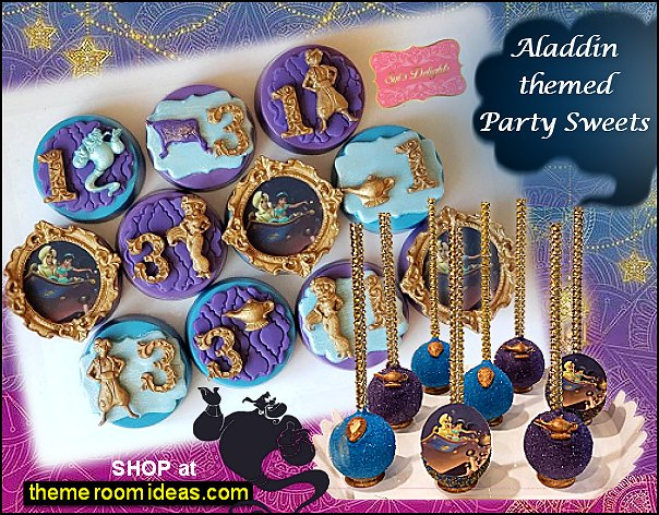 aladdin themed party sweets jasmine cookies  Aladdin cakepops. Jasmine   cakepops