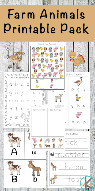 FREE Farm Worksheets - these super cute, free printable preschool and kindergarten worksheets offer lots of opportunity to practice alphabet letters, keywords, vocabulary, beginning letter sounds, counting, and so much more.