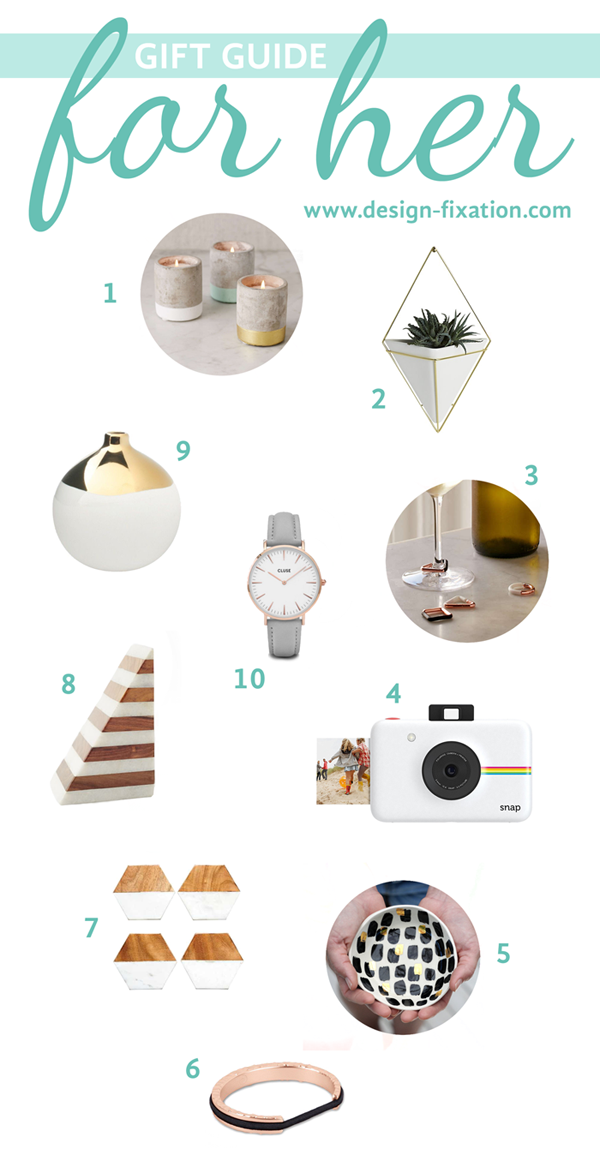 Design Fixation Gift Guide: For Her (Under $100)