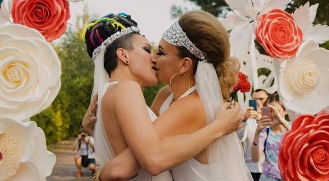В Украине впервые состоялась однополая свадьба!