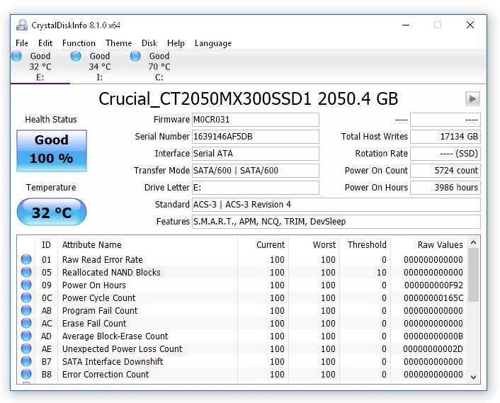 Tải CrystalDiskInfo 8.2 - Kiểm tra sức khỏe ổ cứng toàn diện