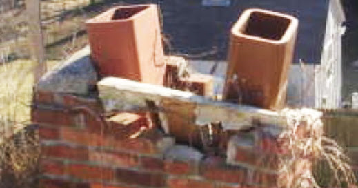 Lighting Damaged Chimneys in Storm August 28