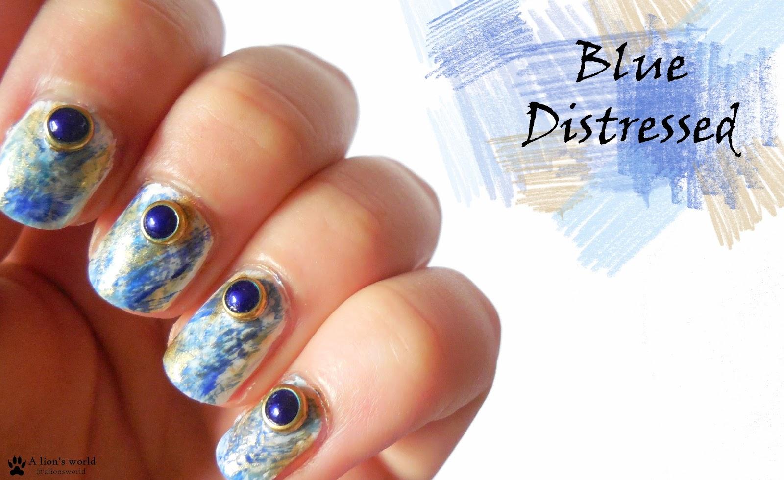 Naildesign Blue Distressed Mit Born Pretty Store Alionsworld