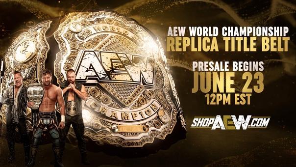 AEW анонсировали продажу реплики своего главного пояса