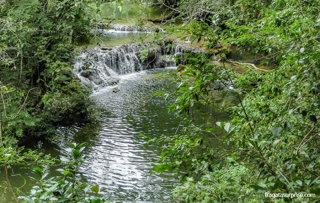 Cachoeira na Estância Mimosa, em Bonito