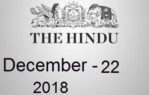 The Hindu Newspaper Today 22 December 2018 Download PDF