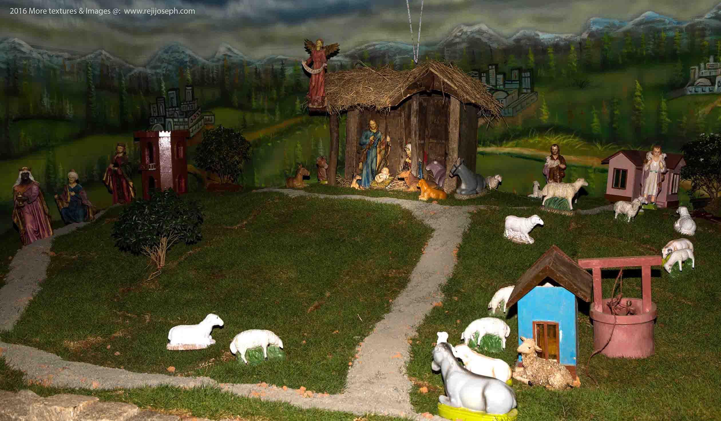 Christmas crib Pulkoodu St. Mary's Basilica Ernakulam 00002