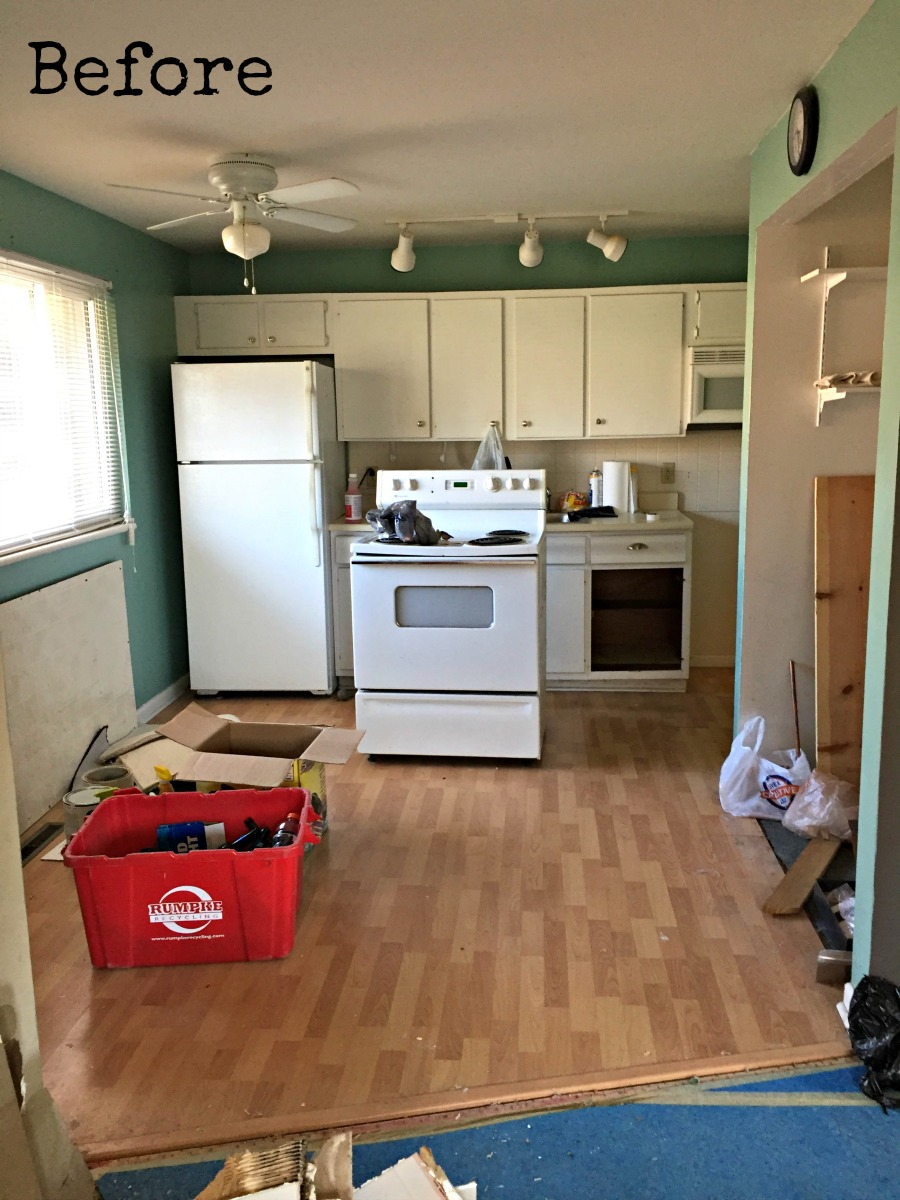 Rental house kitchen before