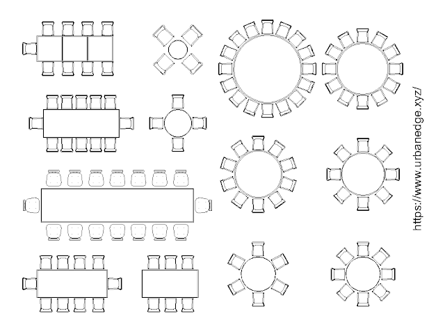 Furniture for Banquet Hall cad block download - 10+ free cad blocks
