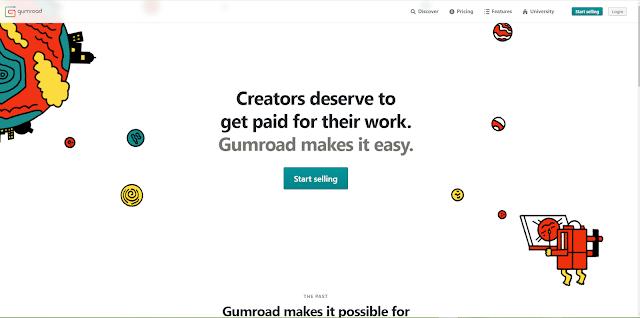 انشاء متجر الكتروني مجاني على gumroad