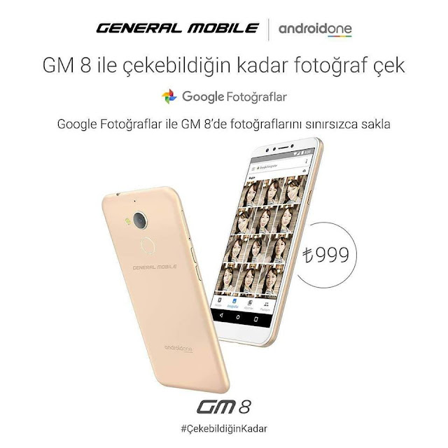 "General Mobile'ın Son Telefonu ""GM 8 Android One"" Satışta"