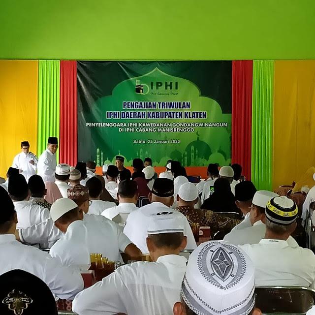 Danramil12/Manisrenggo Kapten Inf Basuki menghadiri pengajian Rutin IPHI